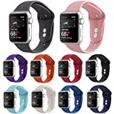 Kaome Compatible with Apple Watch Band 44mm 42mm,Soft Strap Sport Band for iWatch Apple Watch Series 4, Series 3, Series 2, and Series 1(S/M,10 Pack) (Color: 10 PACK, Tamaño: 44mm/42mm S/M)