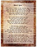 Don't Quit Poem Art Print, Size 16 x 20 inches