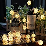 ラタンヴァインボールソーラーストリングライトLED20球250cmクリスマスツリーパーティデコレーションツリー装飾クリス飾り贈り物店舗装飾(暖かい光)