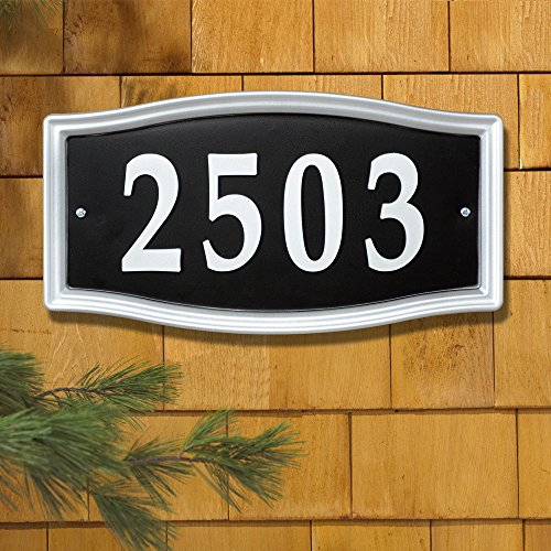 Whitehall Products Easy Street Address Sign Plaque Silver