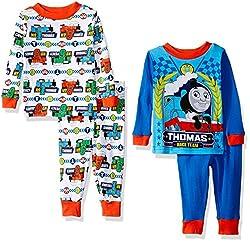 Thomas the Train Boys' 4-Piece Pajama Set, Blue/White, 24 Months
