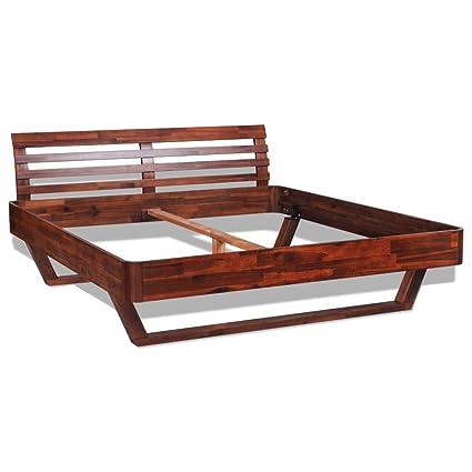 vidaXL lit en bois d'acacia 200x140 cm marron