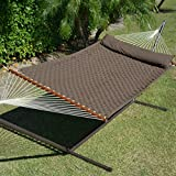 Comfort Weave Hammock Chocolate Brown and Tri Beam Stand Mocha