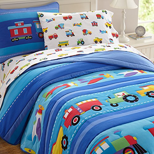 Olive Kids Trains, Planes, Trucks Light Weight Twin Comforter Set (Truck Comforter compare prices)
