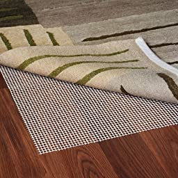Grip-It Ultra Stop Non-Slip Rug Pad for Rugs on Hard Surface Floors, 3 by 5-Feet, Natural