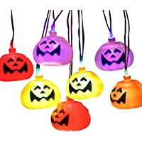 2-Packs Halloween 10 Foot Pumpkin Skull 32 LED Lantern Set