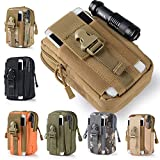 Efanr Universal Outdoor Tactical Holster Military Molle Hip Waist Belt Bag Wallet Pouch Purse Phone Case with Zipper for iPhone 7 6s Plus 5S Samsung Galaxy S7 S6 LG HTC and More (Army Green)