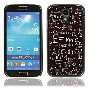 Aluminum Protective Case with E=mc2 Pattern for Samsung S4/i9500