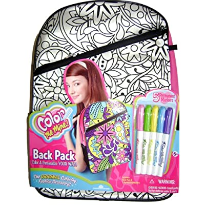 Me Mine Large Backpack - Color Me Mine School Backpack and free marker