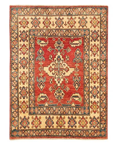 eCarpet Gallery One-of-a-Kind Hand-Knotted Gazni Rug, Red, 3' 5 x 4' 8