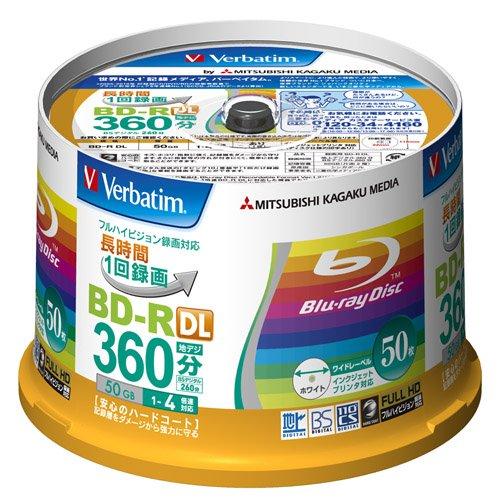 Verbatim Blu-ray Disc 50 Spindle - 50GB 4X BD-R DL - 2011