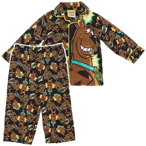 Scooby Doo Yikes Coat-Style Pajamas For Todder Boys 4T front-170598