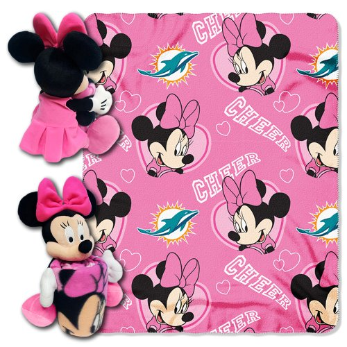 NFL Miami Dolphins Minnie Cheerleader Throw with Hugger