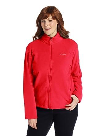 Columbia Ladies Big Fast Trek II Full Zip Fleece Jacket Plus by Columbia