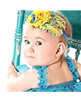 1 Pc Yellow- Lovely Feather Head Wear Headband for Baby Newborn Toddler Girls