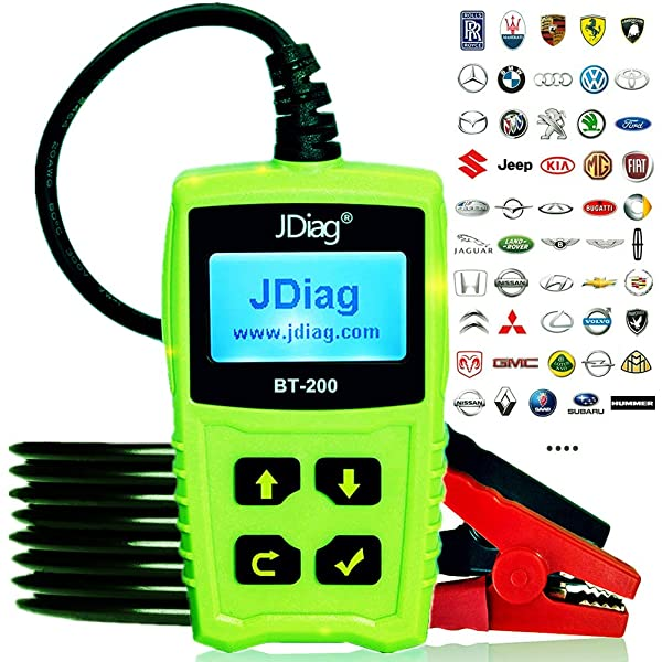 Digital Battery Analyzer for CCA MCA JIS DIN IEC EN SAE GB etc JDIAG FasCheck BT200 Car Battery Tester 12V Auto Cranking and Charging System Test Scan Tool