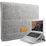 Inateck 12.9 iPad Pro/ 13.3 Inch MacBook Air/ Pro Retina Sleeve Case Cover Ultrabook Netbook Laptop Bag Tablet PC Sleeve with Stand Function for MacBook and iPad, Gray