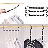 HOUSE DAY Household Mall Pack of 10 Pcs 15 inch Black Magic Hangers Closet Space Saving Wardrobe Clothing Hanger Oragnizer (Color: 10pcs, Tamaño: 15x3x0.8