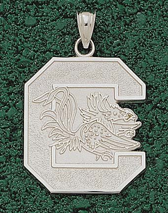 South Carolina Gamecocks Giant 1 1 8 W x 1 1 4 H C Gamecock Pendant - 14KT Gold... by Logo Art