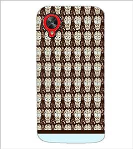 PrintDhaba Skull pattern D-1945 Back Case Cover for LG GOOGLE NEXUS 5 (Multi-Coloured)