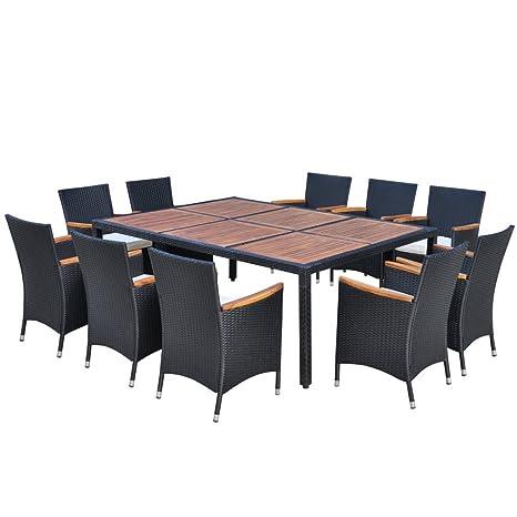 vidaXL Poly Rattan Gartenmöbel Sitzgruppe Gartenset Essgruppe Sitzgarnitur 200x150 cm
