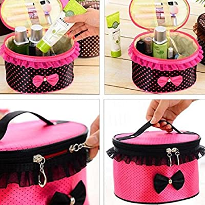 DZT1968® Handle Large Cosmetic Bag Travel Makeup Organizer Case Holder