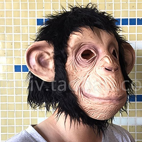 Funny Monkey Face Full Face Mask Fancy Dress Halloween Party/monkey New Latex Halloween X-mas Cardinal Mask Animal Head Party Mask