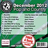 All Star Karaoke December 2012 Pop and Country Hits B (ASK-1212B)