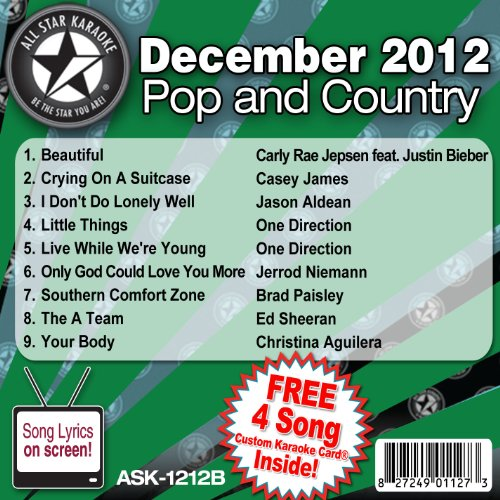 All Star Karaoke Pop and Country Series (ASK-1212B) (Karaoke Cds One Direction compare prices)