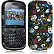 Seluxion - Housse coque etui gel pour Samsung Chat 335 S3350 avec motif LM18