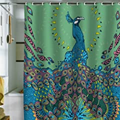 2 DENY Designs Geronimo Studio Peacock 1 Shower Curtain 69 By 72