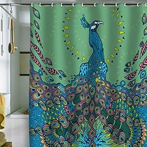 Amazon Com Deny Designs Geronimo Studio Peacock 1 Shower