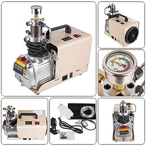 High-Pressure Air Compressor Pump-110V 30Mpa Electric Air Pump 4500PSI Air Compressor Paintball Fill Station for PCP Inflator
