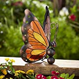 Outdoor Solar Butterfly Decoration - Yellow.Beautiful.Suitable for every yard and garden.Weatherproof