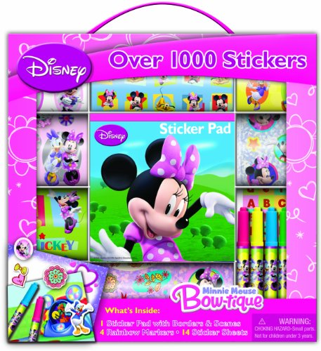 Bendon Disney Minnie Mouse Sticker Box with Handle Activity Set - 1