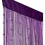Fadenvorhang mit Perlen - Lila - Violett ca 90 cm x 250 cm Türvorhang