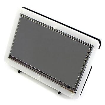 Avec Bicolor Case, Haute Résolution 1024 × 600 Raspberry Pi 7 pouces écran tactile capacitif LCD HDMI pour Raspberry Pi (Raspberry Pi 2 Modèle B / Raspberry Pi modèle B / B + / A +)/BB BLACK/PC System
