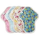 布ナプキン Mサイズ 5枚セット 薄手 防水布入り ふつうの日多い日昼用 生理ナプキン|エニュアンス オーガニックコットン使用