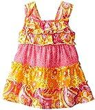 Youngland Baby Girls' Printed Gauze Ruffle Top Sundress