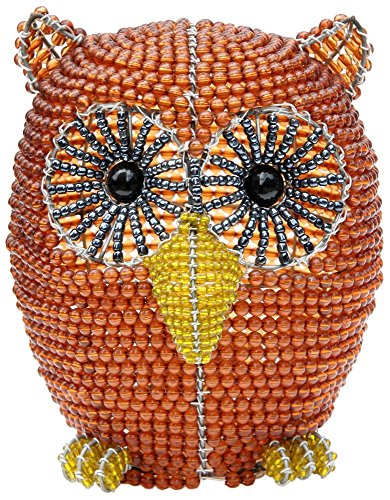 Beadworx Owl Hand-Crafted Beaded Night Light front-925279