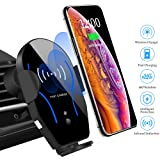 Car Phone Mount Cell Phone Holder Air Vent Mount for Car Wireless Charger Compatible with iPhone Xs Max/XS/XR/8 Plus Samsung Galaxy S10/S9/S8/S7 Edge/Note5 & Other Qi Smartphone (Color: Black, Tamaño: Air Vent Car Phone Mount)