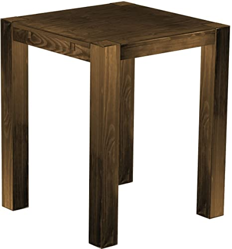 'RIO Kanto' Brasil High Table 100 x 100 x 109 cm, pine Bonito Solid Wood Twist, antique oak