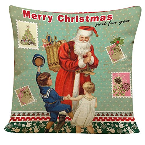 kissenbezug sourpa sehr niedliche weihnachts vater kissen abdeckung f r bett sofa hausdekor c. Black Bedroom Furniture Sets. Home Design Ideas
