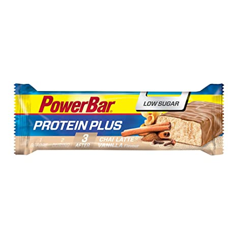 PowerBar Protein Plus Low Sugar Chai Latte Vanilla, 30 x 35g