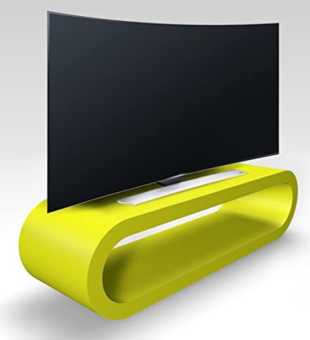 Stile Retrò Cerchio Grande Calce Verde Opaco Porta Tv / Armadietto 110 cm
