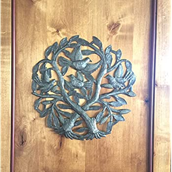 Crossing Trees Metal Wall Art Handmade in Haiti From Recycled Drums 15