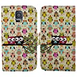 myLife Crazy Owls Print - Classic Design - Koskin Faux Leather (Card, Cash and ID Holder + Magnetic Detachable... by myLife Brand Products
