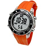 Digital Multifunction Sports Wrist Watch - Waterproof Smart Fit Classic Men Women Water Sport Swimming Fitness Gear Tracker w/ Chronograph, Countdown, Dual Time, Diving Mode - Pyle PSNKW30O (Orange) (Color: Orange, Tamaño: 4.5 x 4.5 x 4.4 inches)