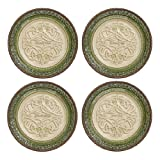 Grasslands Road Celtic 8-Inch Relief Patterned Celtic Knotting Accent Plates 4 Style, Set of 4