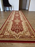 "Persian Style , Contemporary Burgundy Living Room and Hallway Runners In 2'8"" ft. x 10' ft."